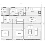 Floorplan for the Connect 4 ADU by Connect Homes.