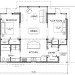 TimberCab by FabCab 982 sq ft 2 bedroom, 1 bathroom floorplan.