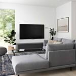 Tenaya modern cottage by Dvele living room.