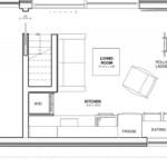 Floorplan for the Baldwin mini home ADU by Dvele.