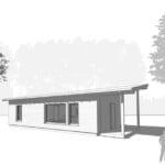 GO Home by GO Logic 600 ft² ADU rendering front view.