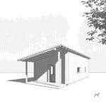 GO Home by GO Logic 600 ft² ADU rendering side view.